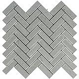 Cinderella Gray Marble Herringbone 1 X 3 Mosaic Tile, Polished (LOT of 50 SHEETS)