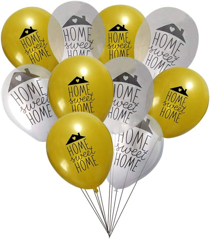 RazzleDazzleCelebrations Home Sweet Home Party Balloons 10 inch Latex 10ct