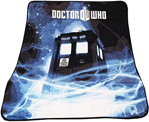 Doctor Who Soft Fleece Blanket Throw TARDIS Cyberman Dalek