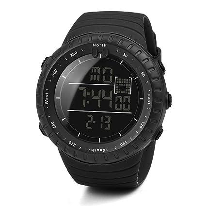 Reloj para hombres Moda Negro Deportes Banda elástica Digital Ejército Militar Cuarzo Reloj de pulsera LMMVP