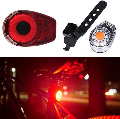 Luz LED para Bicicleta, Carga USB LED Faro Trasero, Impermeable ...