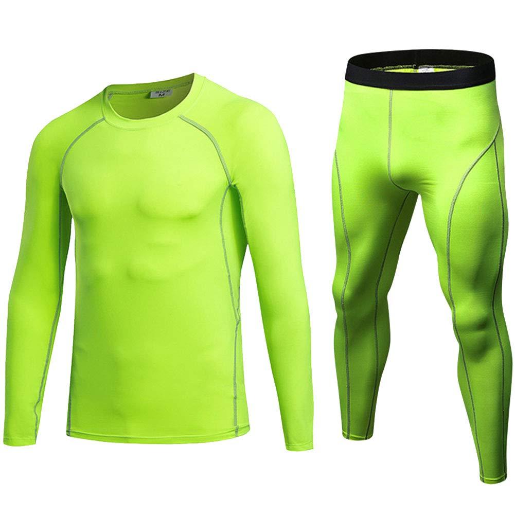 2 Pcs Ensemble de Sport Homme Fitness T-Shirt à Manches Longues+Running  Leggings de Compression e1728a23d3e