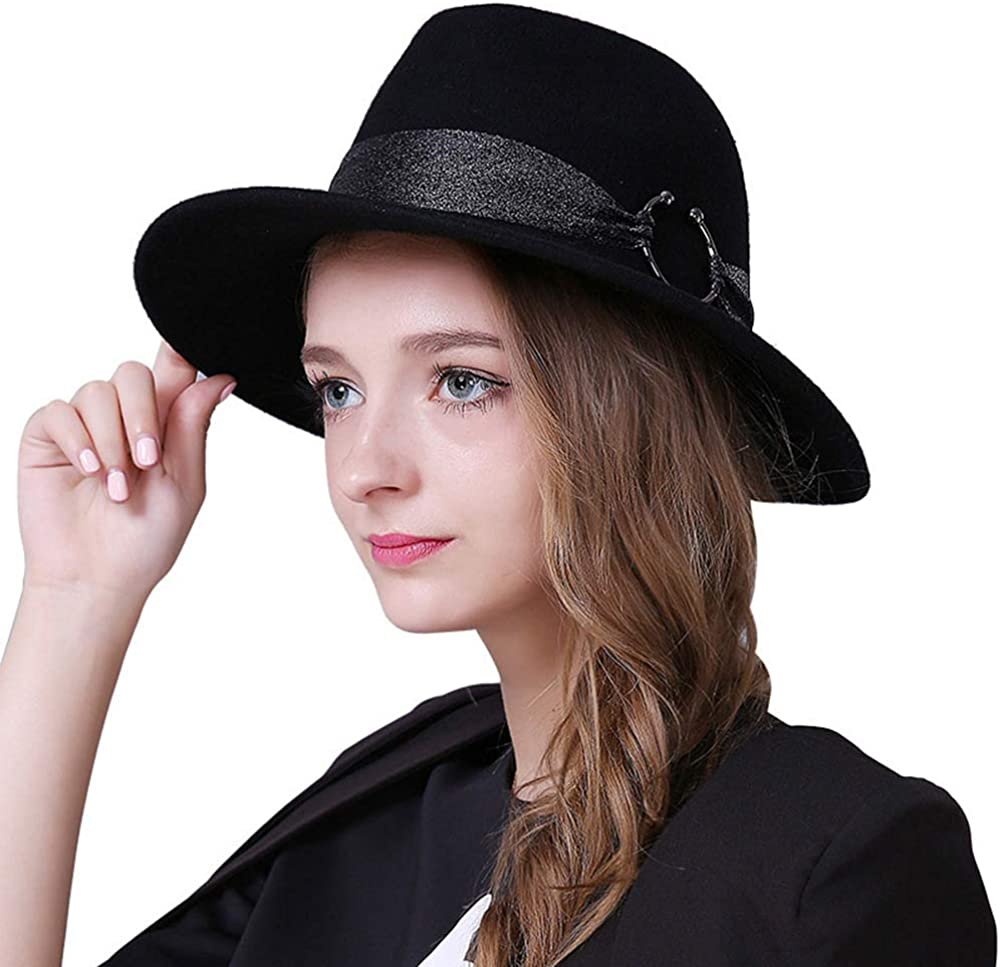 F FADVES Trilby Fedora Hat...