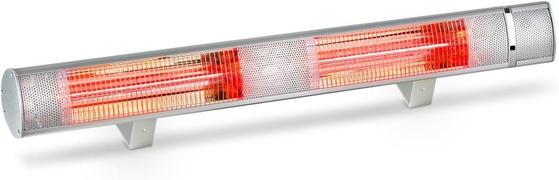 Blumfeldt Gold Bar 3000 Calentador infrarrojo - 1000-3000W, 3 niveles temperatura, Mando a distancia, Ahorro energético, Protección IP65, Montaje pared, Calefacción para jardín