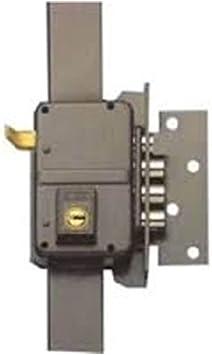 Yale 9YL645DHP Cerradura de sobreponer Alta Seguridad, Latonado, Hoja: 45 mm: Amazon.es: Bricolaje y herramientas