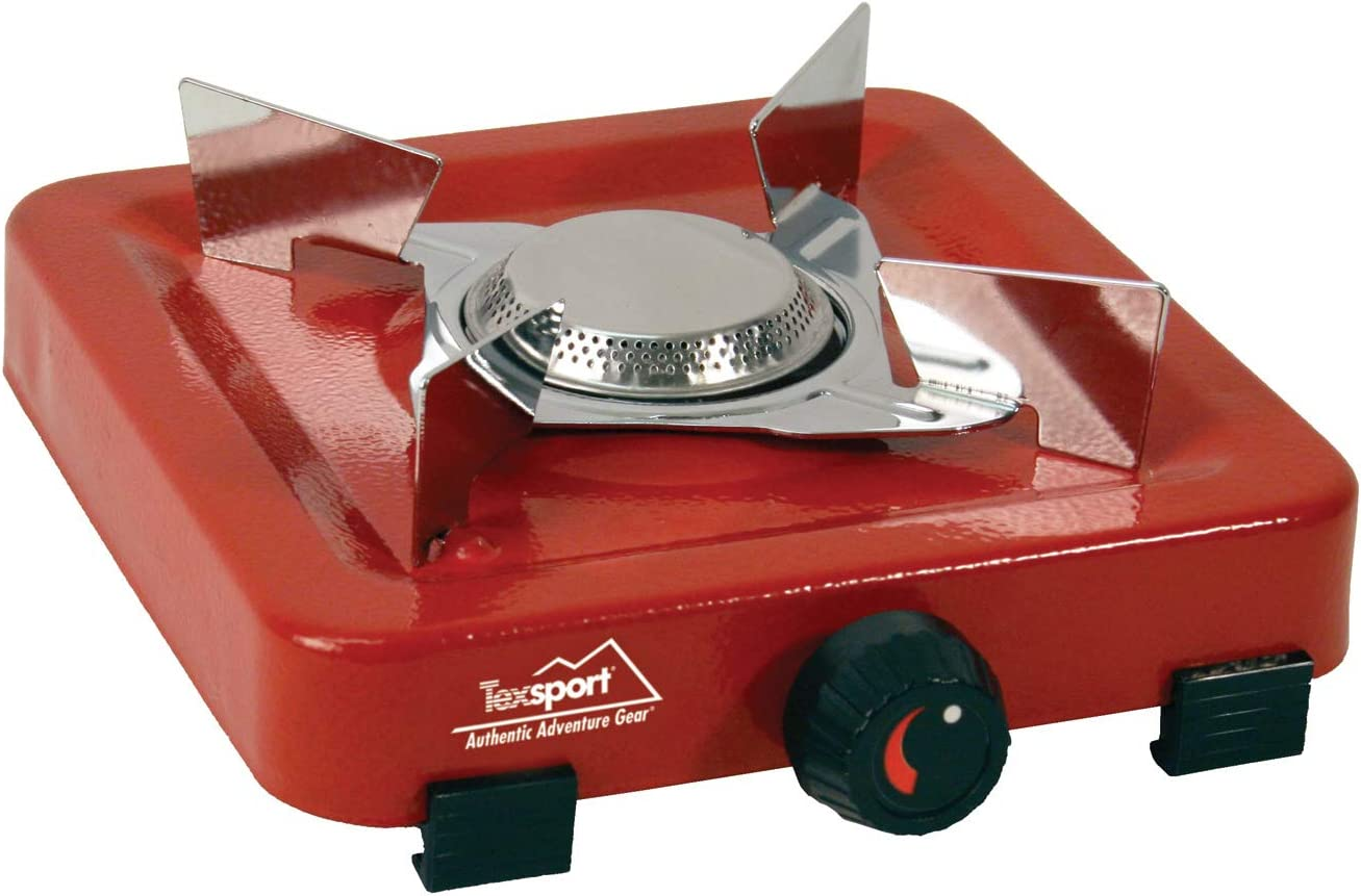 Amazon Com Texsport Compact Single Burner Propane Stove For Outdoor Camping Backpacking Hiking Sports Outdoors