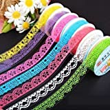 Xiao Ying 7 rolls Matte powder color creative decorative lace tape tape