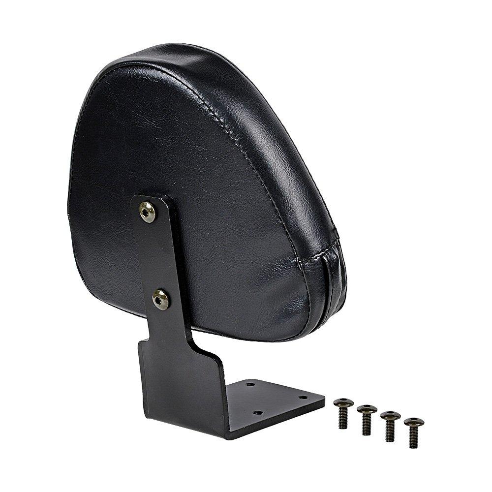 Set Black Leather Rear Passenger Backrest Pillion for Victory Vegas High-Ball Kingpin Zach Ness