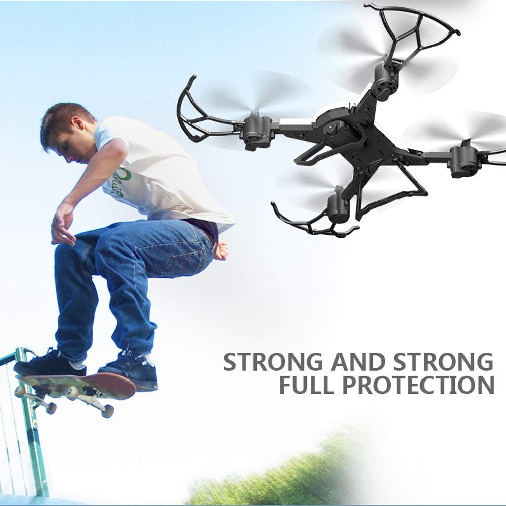 Foldable Mini RC Helicopter Drone 2.4Ghz 6-Axis Gyro 4 Channels Quadcopter with 1080P 5.0MP Camera for Aerial Photography (White, KY601S) Besde