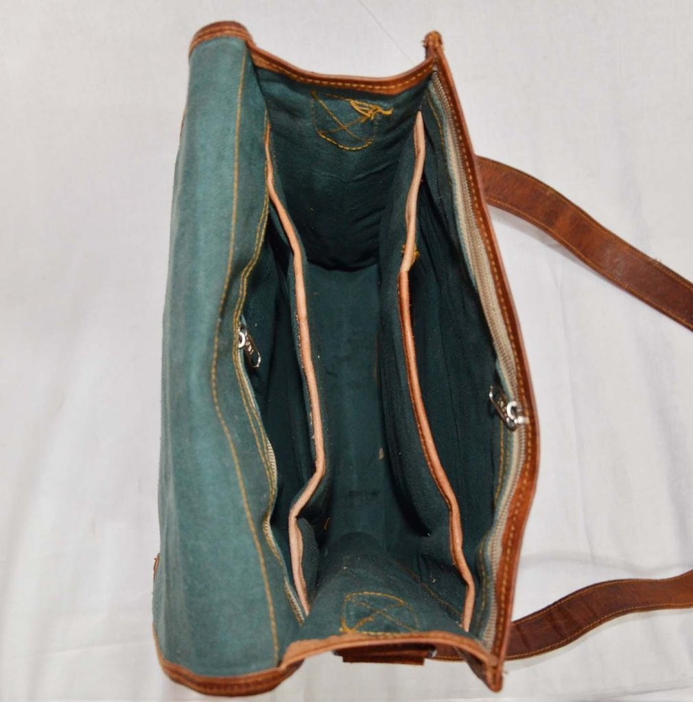Messenger of Leather Handmade Vintage Leather Briefcase for Men & Women. 11'' x 15'' x 4.5'' by Messenger of Leather (Image #5)