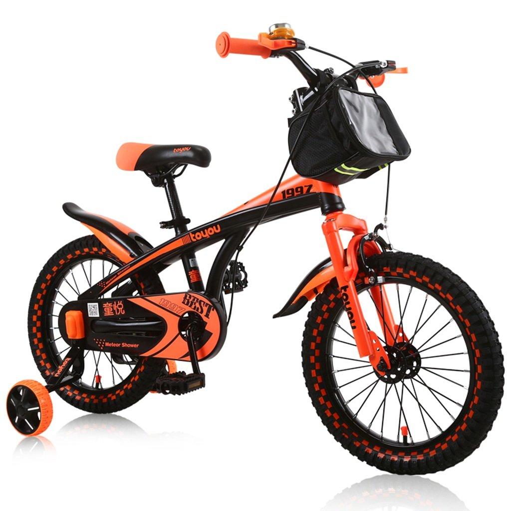 CSQ 男子生徒に適した子供用自転車補助車輪付きの市街地の布バスケット高炭素鋼の滑り止め技術3-9歳100-121CM 子供用自転車 (色 : A, サイズ さいず : 100CM) B07DXL15Y2A 100CM