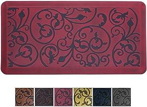Amcomfy Premuim Kitchen Anti Fatigue Mat,Comfort Floor Mats,Standing Desk Mats,Antique Series (20 x 39 x 3/4 Inches, Antique Red)