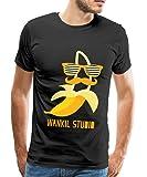 Spreadshirt Wankil Studio Banane Hipster T-shirt Homme
