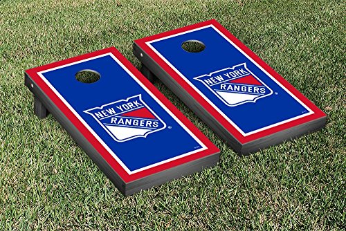 New York Rangers NHL Regulation Cornhole Game Set Border Version by Victory Tailgate