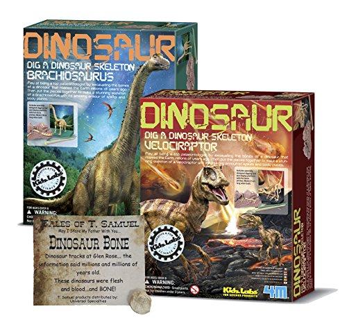 Dig a Dinosaur Excavation Dino Kit Brachiosaurus and Velocir
