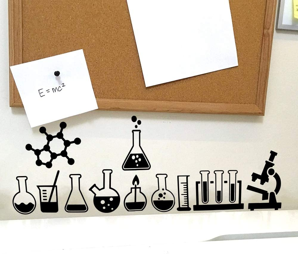 XCSJX Science Lab Geek Tatuajes de pared Laboratorio de clase ...