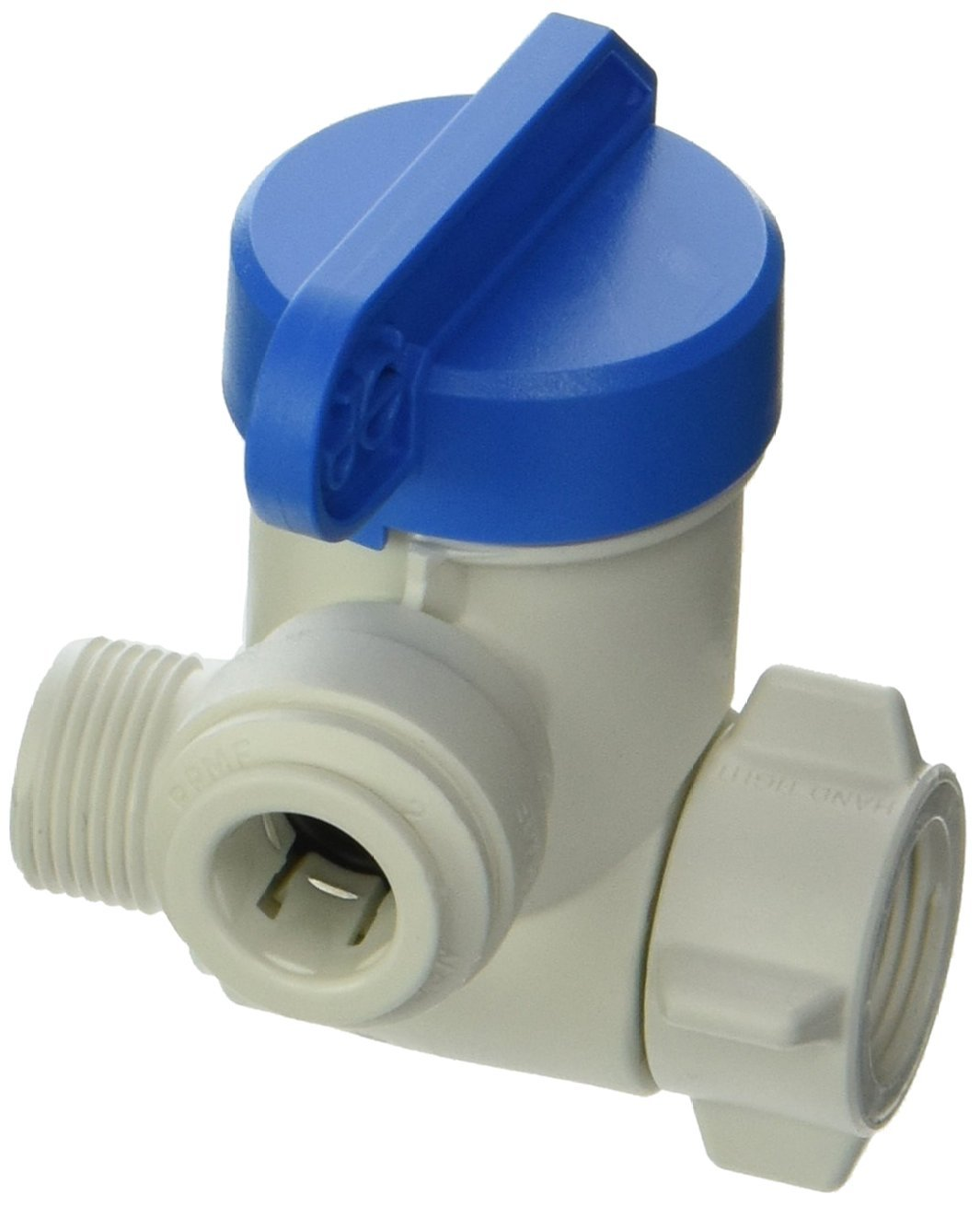 John Guest PASVPP2 Angle Stop Adapter Valve, Push-to-Connect, 3/8 x 3/8 x 3/8 Inch