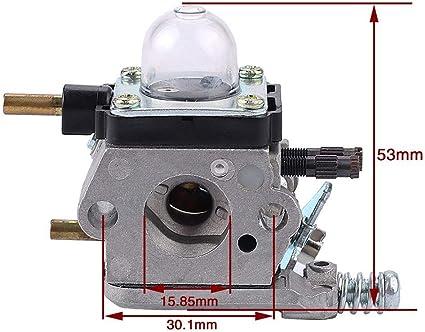 REFURBISHHOUSE C1U-K54A Kit de Ravitaillement en Carburateur C1U-K17 pour Mantis 2 Temps 7222 7222E 7222M 7225 7230 7234 7240 7920 7924 Motoculteur//Cultivateur