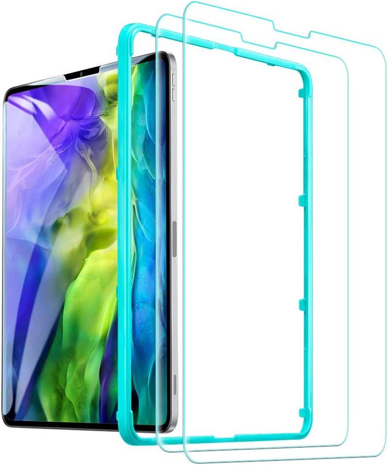 ESR - Protector de pantalla para iPad Pro 11 (2020/2018), 9H-Hard HD transparente templado protector de pantalla para iPad Pro 11 pulgadas (2020/2018) [2X fuerza] [resistente a los arañazos]