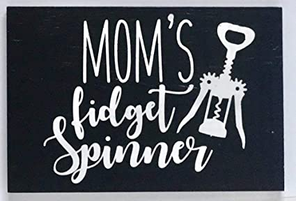 Shabby Chic Kitchen Signs : Amazon.com: adonis554dan funny wood signs moms fidget spinner with
