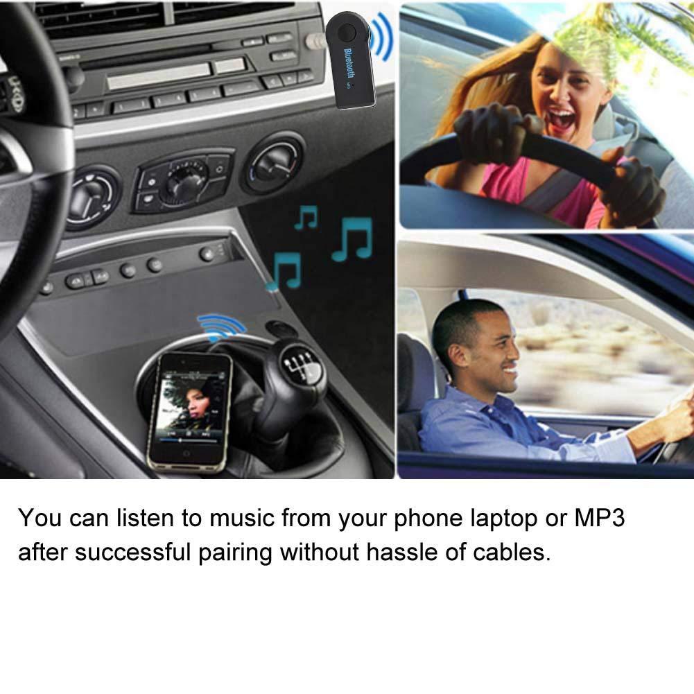 vivavoce per auto Kit Bluetooth Ricevitore wireless per musica audio da 3,5 mm Ricevitore Bluetooth Kit per auto per adattatore audio per auto Ricevitore Bluetooth per auto