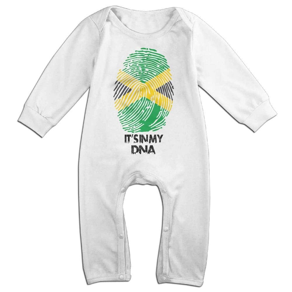 UGFGF-S3 Its in My DNA Jamaica Flag Long Sleeve Infant Baby Unisex Baby Romper Jumpsuit Onsies for 6-24 Months Bodysuit