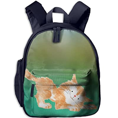 60%OFF Cute Little Yellow Cat School Book Bag Cool Backpack Bag For Girls Boys