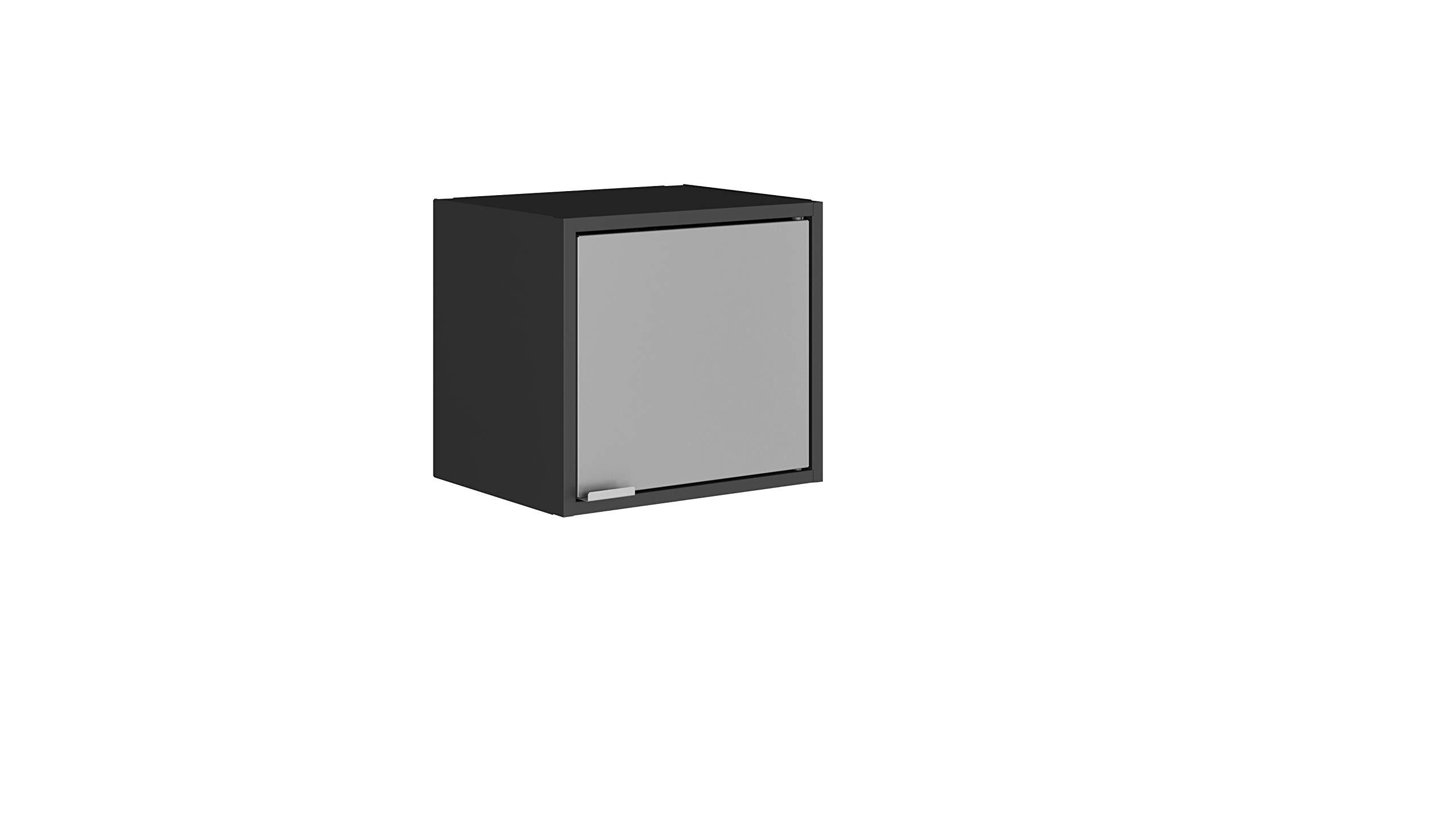Manhattan Comfort Smart Modern Kitchen Floating Cube Cabinet Organizer, Black/Grey by Manhattan Comfort
