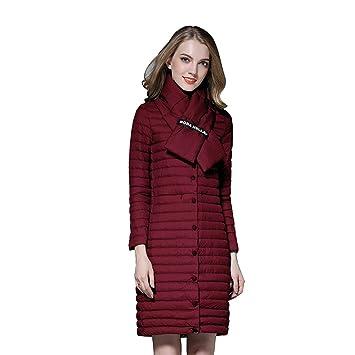 1e0d2fd62f56 Gwell Femme Manteau d hiver Long Doudoune Légère Blouson Veste + écharpe