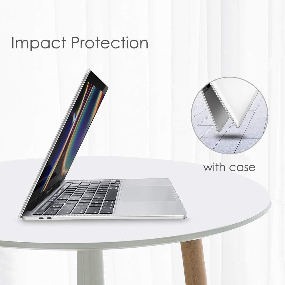 Fintie Funda para MacBook Pro 13 2020 Transparente - S/úper Delgada Carcasa Protectora de Pl/ástico Duro para MacBook Pro 13.3 Pulgadas A2251 // A2289 con Touch Bar y Touch ID