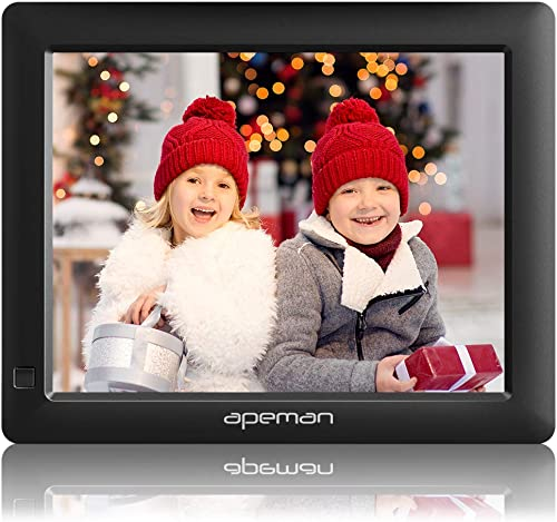 APEMAN Digital Photo Frame 8 Inch with 1280×800 High Resolution with Background Music, Motion Sensor, Photo Auto-Rotate, USB and SD Card Slots and Remote Control
