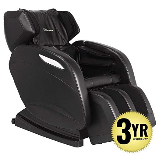 2019 Full Body Massage Chair + 3yr Warranty. Electric Zero Gravity, Foot Roller, Shiatsu Recliner with Heat and Audio. Newest Real Relax Model (Black)