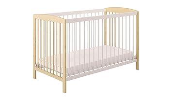 Wei/ß mit 10 cm Matratze Best For Kids Gitterbett One h/öhenverstellbar in wei/ß Babybett 60x120 cm mit Lattenrost