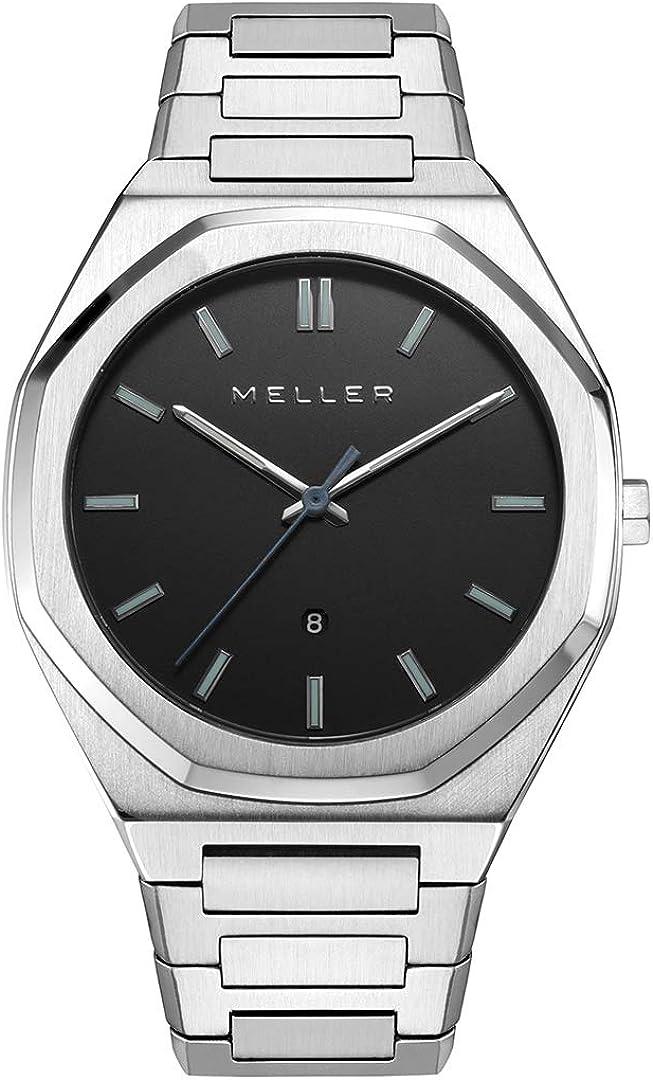Meller - Daren Black Silver - Relojes para hombre y mujer