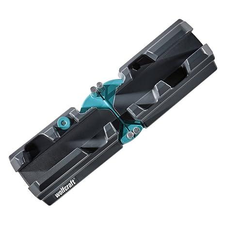 Wolfcraft 6948000 - Caja de ingletes para cortar en bisel, negro