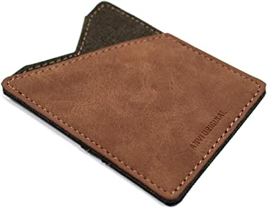 Anvi Original Leather & Canvas Minimalist Wallet for Men & Women - Front Pocket Slim Wallet RFID Blocking Slim and Fashionable Design …