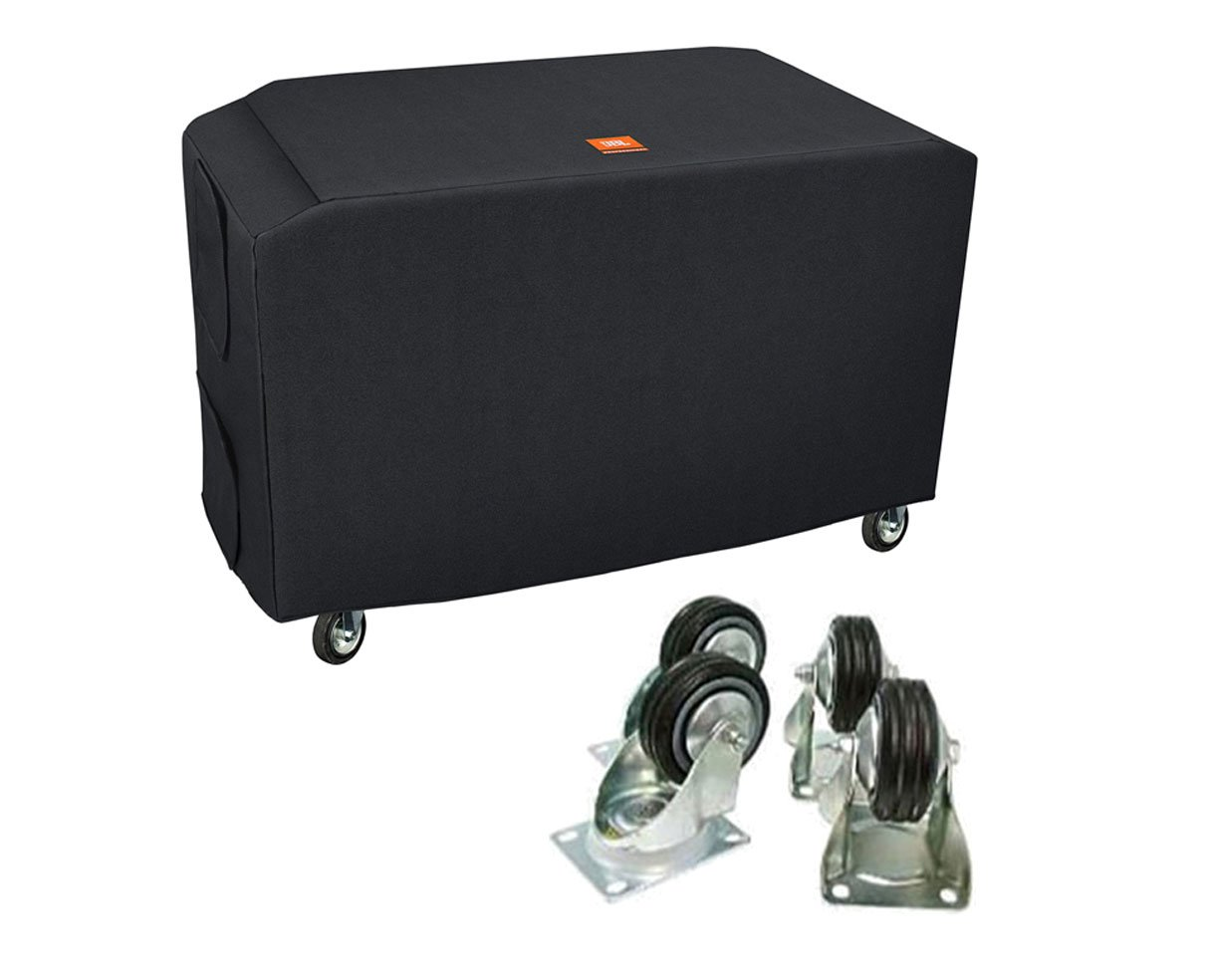 JBL Bags SRX828SP-CVR-DLX-WK4 Deluxe Custom Cover + WK-4S Casters Wheels Set