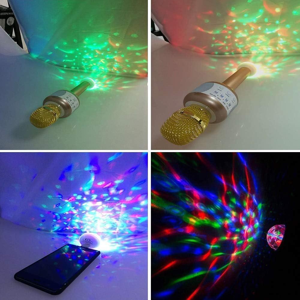 Multi Pool Color Stage DJ Light for Xmas Wedding Sound Activated Karaoke USB Mini Disco Light KTV Parties Kids Birthday Parties Family VEVICE Upgrade Magic Party Lights Ball Lamp Club