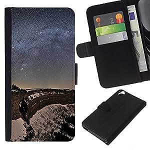 Stuss Case / Funda Carcasa PU de Cuero - Noche Estrellas - HTC Desire 820
