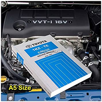 Aftermarket Toyota 1KZ-TE Book Auto Engine Repair Service