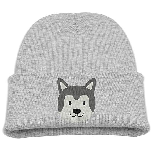 Amazon.com  ZWZ Siberian Husky Pattern Kid s Hats Winter Funny Soft ... 9da8bea9211