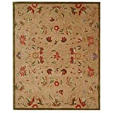 Safavieh Anatolia Collection AN525A Handmade Traditional Oriental Beige and Green Wool Area Rug (8' x 10')
