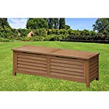 Deck Storage Container Bench Solid Wood Patio Storage Deck Box Rectangular Outdoor Container Durable Yard Bench Pool Equipment Patio Pillows Backyard Toy Storage GardenTools & eBook by BADA shop