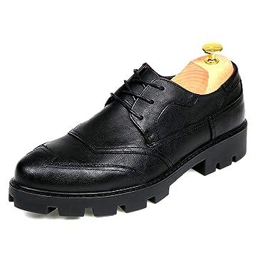 Fang-shoes, 2018 Zapatos Hombre, Zapatos de Brogue convencionales y de Charol para Hombre de Negocios de Oxford (Color : Negro, tamaño : 44 EU): Amazon.es: ...