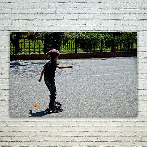 Westlake Art Roller Skating - 12x18 Poster Print Wall Art - Modern Picture Photography Home Decor Office Birthday Gift - Unframed 12x18 Inch (6C56-1E27F) (Shoe Skateboard Oak)