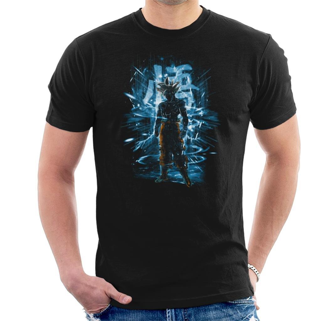 sale retailer 3377a 92550 Dragon Ball Z Goku Ultra Instinct Storm Men s T-Shirt  Amazon.co.uk   Clothing