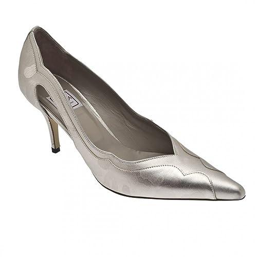 d98f19ff732 Renata Women s High Heel Court Shoe 7.5 Silver  Amazon.co.uk  Shoes ...
