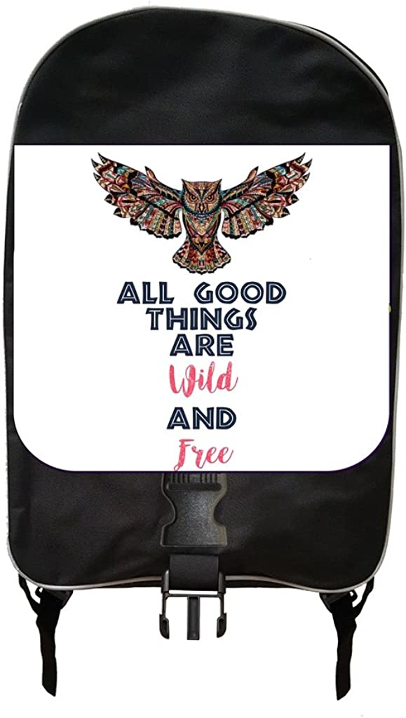 Pencil Case Ethnic Owl Jacks Outlet TM School Backpack and Insulated Lunch Bag Set Wild And Free