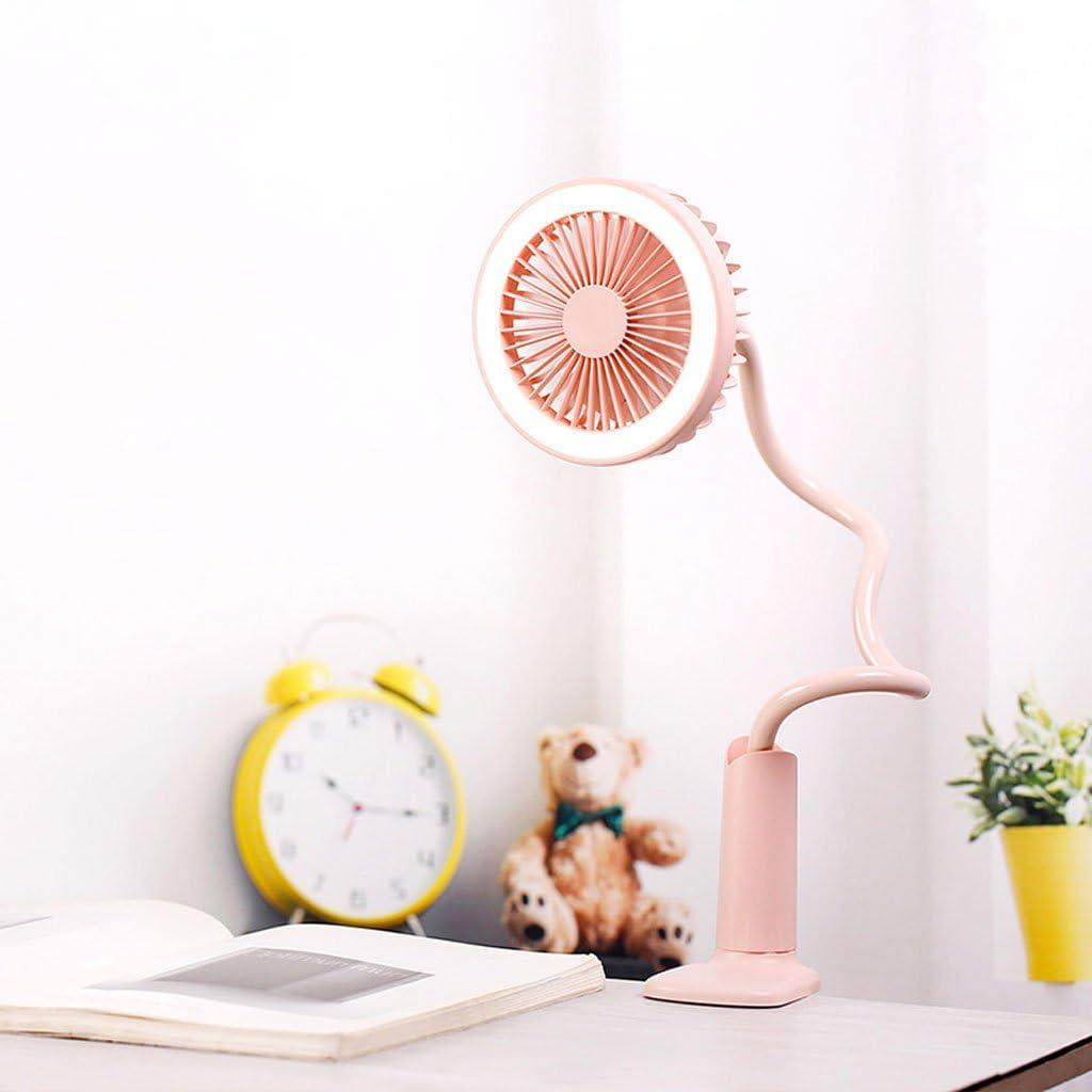 Small Rechargeable Clip Fan Small Fan Student Dormitory Office Mute Portable Mini Fan Portable Cooling Fans USB Mini Fan Desk Lamp Fan Family Outdoor Travel Mini Fan Desk Table Fans