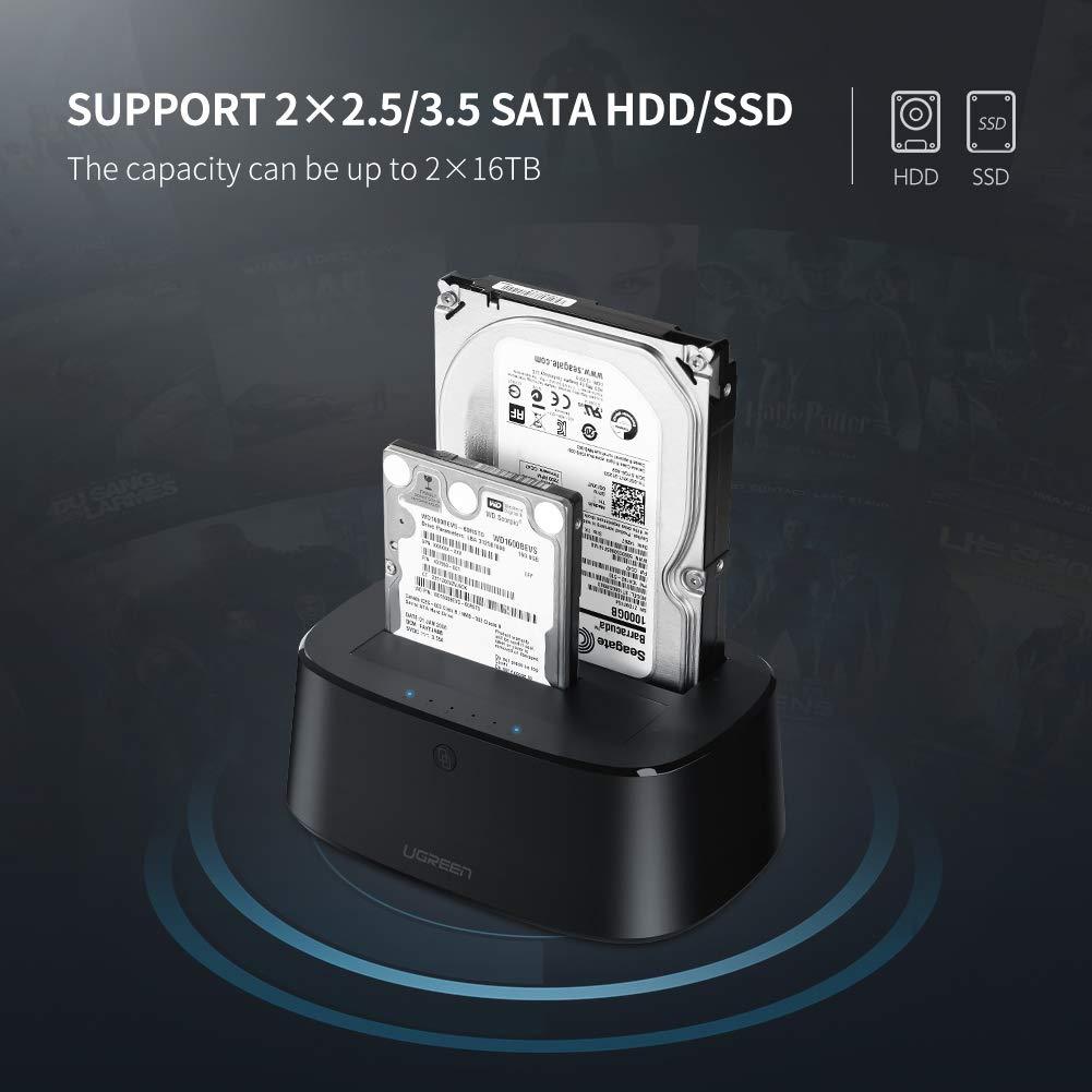 UGREEN - Base de conexión para Disco Duro Externo SATA I II III ...